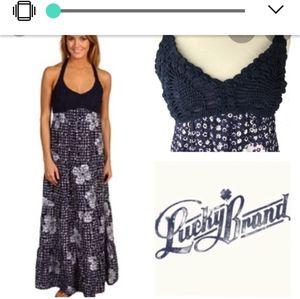 Lucky Brand with John Robshaw halter maxi dress
